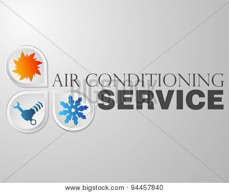 Symbol repair air conditioning