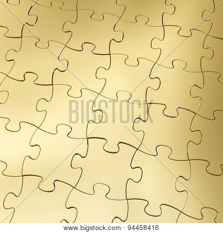 Gold Jigsaw Puzzle Background