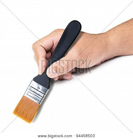 Paintbrush In Hand