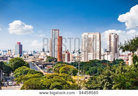 Panoramic view of San Paolo on suny day, Brazil. America.
