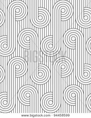 Flat Gray With Circles With Continues Lines