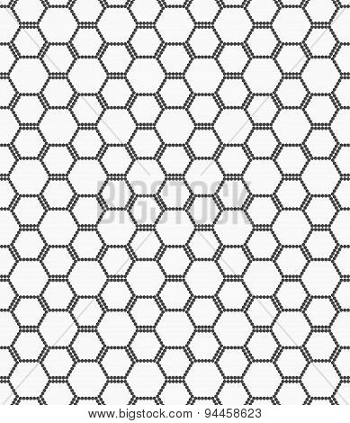 Flat Gray With Hexagonal Bee Grid