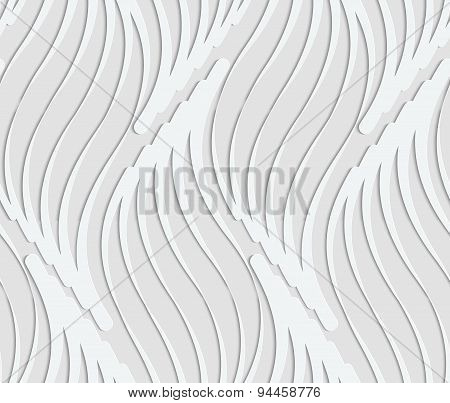 Paper Cut Out Abstract Wavy Leaves