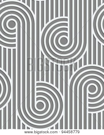 Paper Cut Out Circles On Continues Stripes