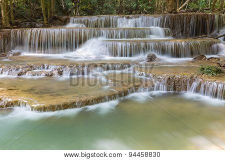 Deep forest waterfalls in National park of Thailand
