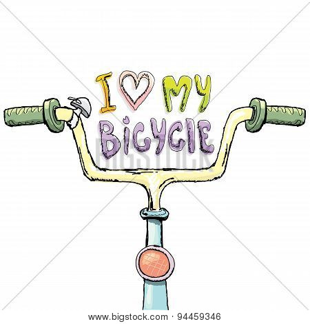 I love my bicycle concept design. Hand drawn