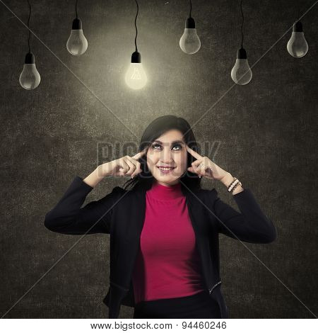 Businesswoman Positive Thinking