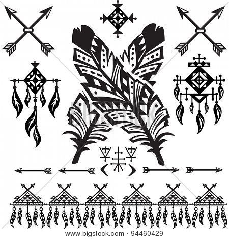 Tribal Feathers and decorative elements