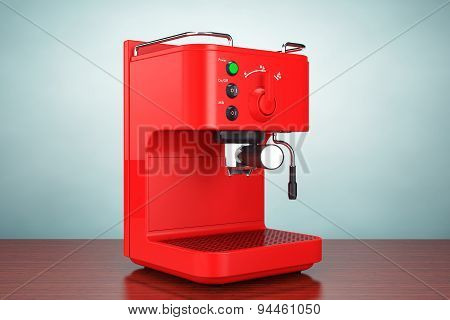 Old Style Photo. Espresso Coffee Making Machine
