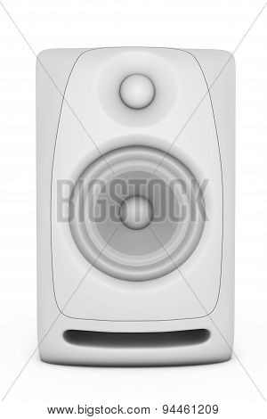 Closeup Audio Speaker. 3D Rendering