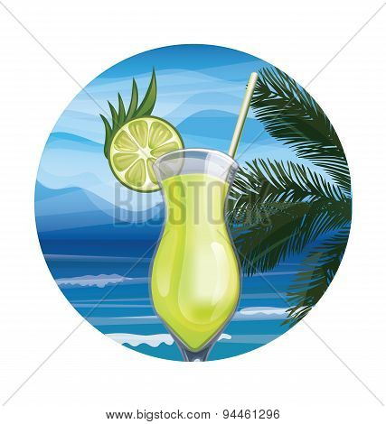 Tropic exotic cocktail