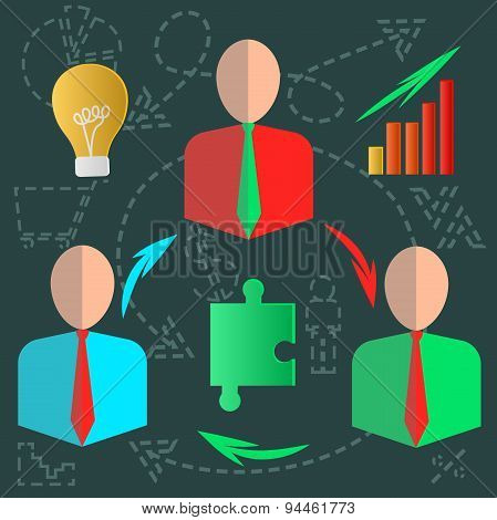 Fixated business infographics discussion ideas