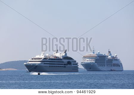 Two Cruise Liner