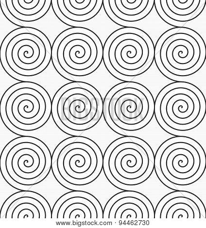 Gray Archimedean Spirals