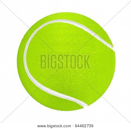 Closeup Of Tennis Ball