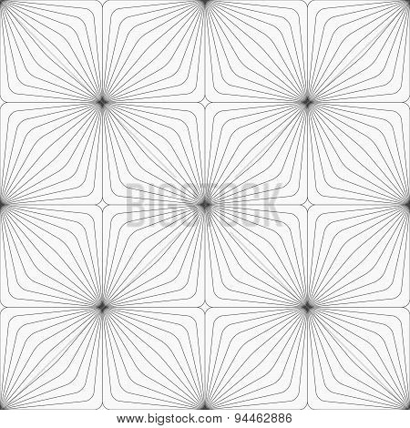 Gray Diagonally Striped Squared Reflected