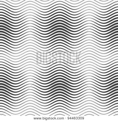 Gray Wavy Lines With Thickenings