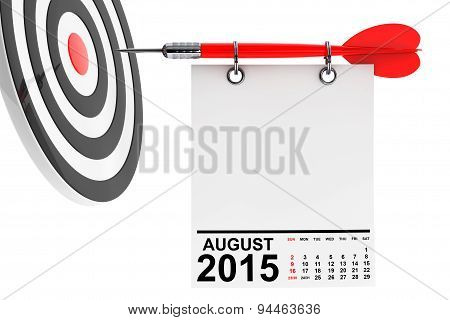 Calendar August 2015 With Target