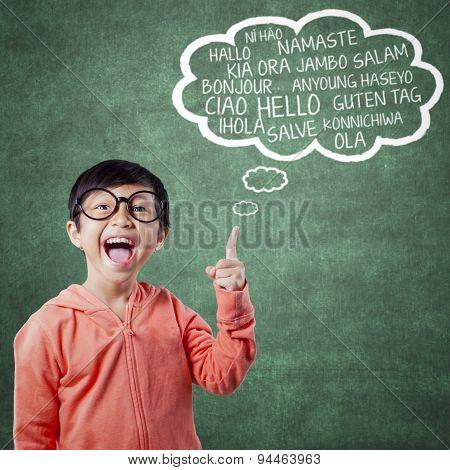 Happy Little Girl Learn Multi Language