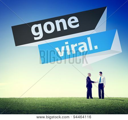Gone Viral Popular Social Media Networking Concept