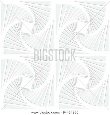 Paper White Squares Split And Swirled