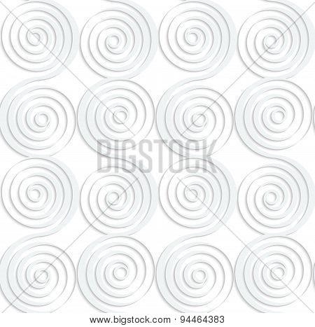Paper White Vertical Merging Spirals