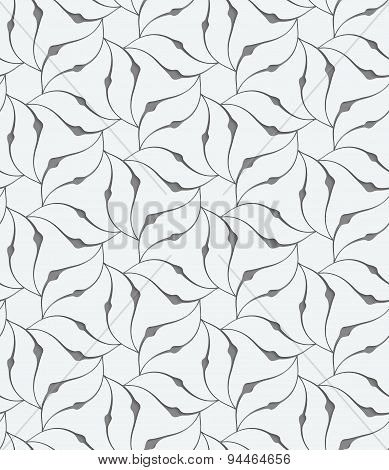 Perforated Floral Leafy Shapes Flower