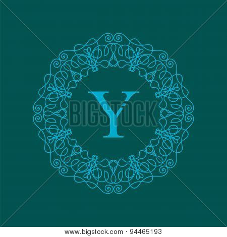 Simple  Monogram Y Design