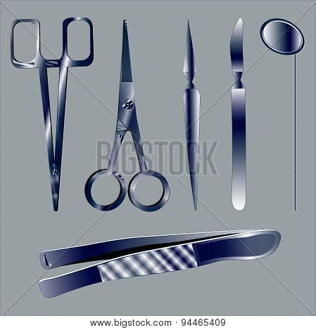 Set medical instruments