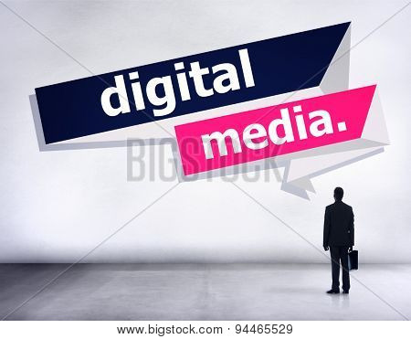 Digital Media Content Share Technology Concept