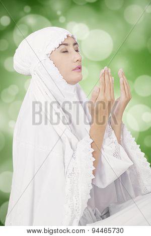 Muslim Prayer With Blur Background