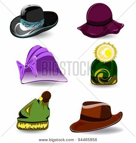 Set vector hats