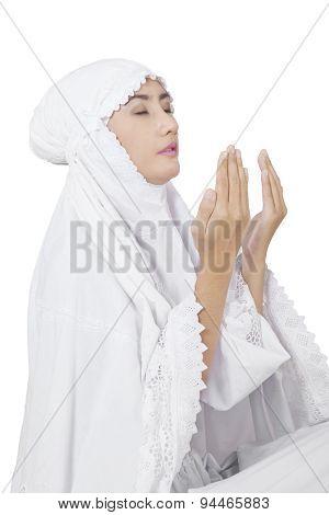 Muslim Woman Worshiping On The God