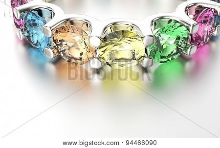 Engagement Ring with Diamond different color. Jewelry background