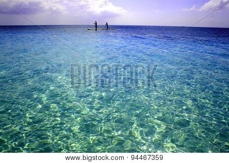 Paddle Boarding along Grand Cayman's 7 Mile Beach