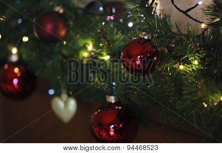 Close Up Of Christmas Baubles