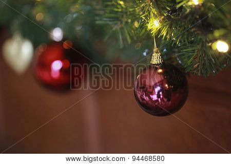 Close Up Of Christmas Bauble
