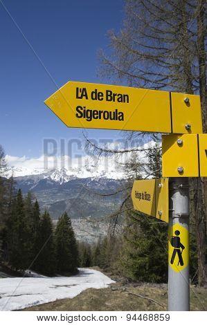 Trekking Signboard