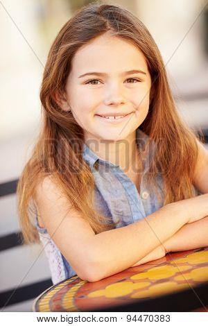 Portrait Of Smiling Caucasian Girl
