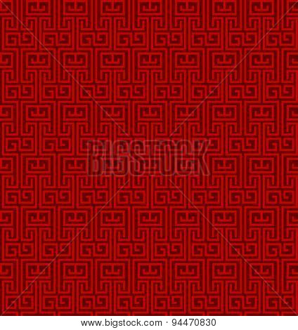 Seamless vintage Chinese window tracery pattern background.