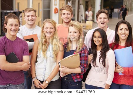 Group Portrait Of College Students