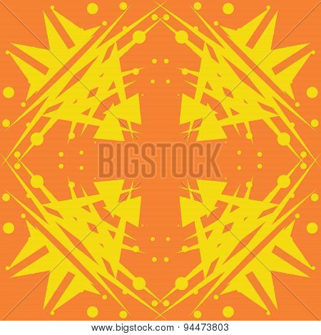 Abstract Yellow Shapes Tiles