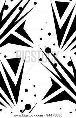 Abstract Seamless Arrows Over White
