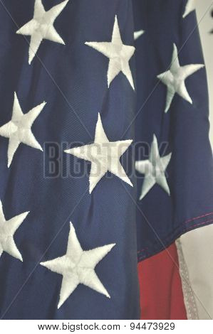 American Flag Closeup Of Stars And Stripes