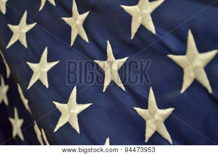 Independence Day Patriotic Background (american Flag Closeup)