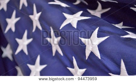 Fourth Of July Patriotic Background (american Flag Closeup)