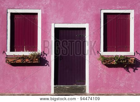 Colorful Geometry Photo Of A House In Burano Island