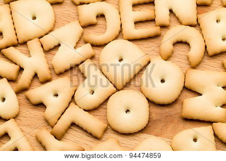 Word Biscuit over wooden table
