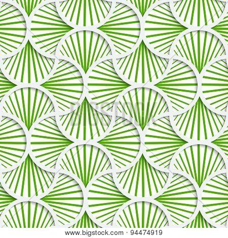 3D Green Striped Pin Will Grid
