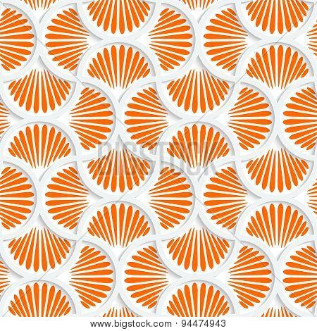 3D Orange Ray Striped Pin Will Grid